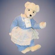 "Vintage Artist Teddy Bear ""The Dressmaker"" By Goodnews Bears Betty & Mike Hayenga W/ Tag"