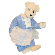 "Vintage Artist Teddy Bear ""The Dressmaker"" By Goodnews Bears Betty & Mike Hayenga W/ Tag"