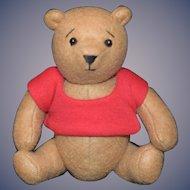 Vintage Winnie The Pooh  Teddy Bear By The Lawton Doll Company Sweet Doll Size