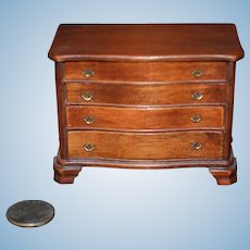 Vintage Doll Miniature Wood Chest Dollhouse