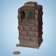 Old Metal Miniature Doll Fireplace Cast Iron Bank Dollhouse