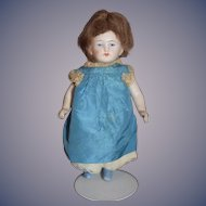 Antique Doll Miniature All Bisque Jointed Dollhouse