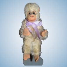 Wonderful Old Miniature Jointed Monkey Mohair and Felt Great Doll Toy