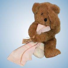 Wonderful Teddy Bear B&D Originals Teddy Bear Crying W/ Broken Leg TOO CUTE!! Signed On Paw