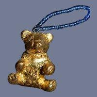 Sweet Miniature Teddy Bear Figurine Unusual Dollhouse Adorable