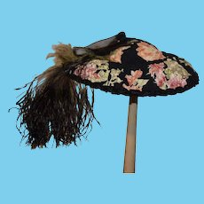 Wonderful Doll Hat Bonnet Artist Made Hats By Sharon Fancy Feathers