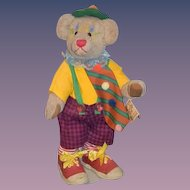Wonderful Teddy Bear Jointed Clown Doll B&D Originals