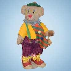 Wonderful Teddy Bear Jointed Clown Doll B&D Originals