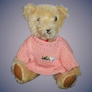 Vintage Althans Germany Mohair Jointed Bear w/ Tags
