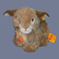 Vintage Steiff Dormy Bunny Rabbit W/ Tags and Button Tag