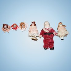 Miniature Doll Santa Claus W/ Miniature Dolls For Christmas Artist Made