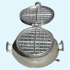 Old Rare Miniature German Waffle Maker Doll Dollhouse Waffle Iron: