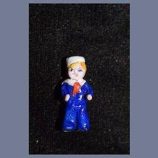 Vintage Miniature Doll Cracker Jacks Boy Dollhouse Artist Made