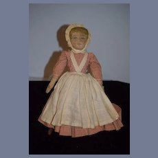 Antique Doll Oil Cloth Topsy Turvy Black Doll White Doll Sweet Folk Art