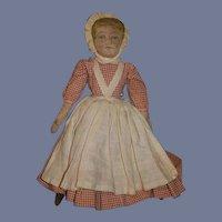 Antique Doll Oil Cloth Topsy Turvy Black Doll White Doll Sweet Folk Art