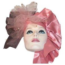 Wonderful Doll Lady Mask Face Porcelain Signed Enamel Eyes
