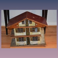 Antique Doll Dollhouse Gottschalk Chalet Miniature Charming