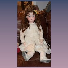 "Antique Doll Huge 34"" Bisque Doll Handwerck 79 Antique Dress"