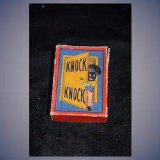 Old Golliwog Doll Card Game