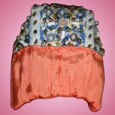 Wonderful Old Hand Beaded & Silk Oriental Doll Hat