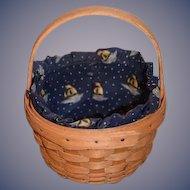 Vintage Longaberger Discovery Basket 1492-1992 W/ Brass Tag