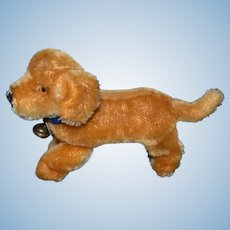 Vintage Dog Steiff Mohair Jointed