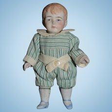 Antique Doll German All Bisque Boy Jointed Dollhouse Miniature