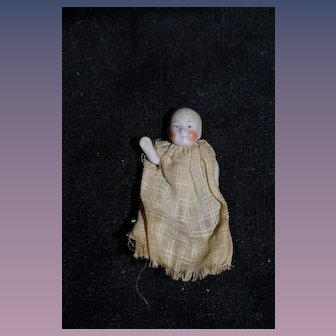 Antique Doll Miniature TINY All Bisque Doll Dollhouse Jointed