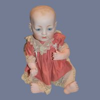 Antique Doll Bisque Head Kestner Character Baby Solid Dome Sleep Eyes