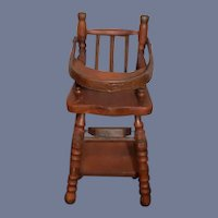 Doll High Chair Converts to Play Chair Wood