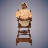 Artist Doll Arnett's Country Store Black Baby Sissy Limited Edition W/ Converting High Chair