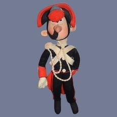 Old Felt Cloth Doll Character Unusual