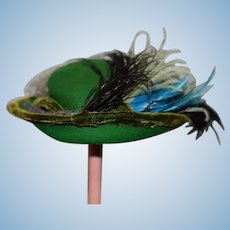 Vintage Doll Madame Laura Original Doll Hat Bonnet Fancy