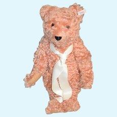 Wonderful Steiff Teddy Bear Jointed Unusual W/ Original Button Tag Pink Bear