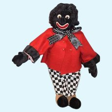 Artist Doll The Mad Hatter Bear By Karen A. Meer  Signed Golliwog Cloth Doll