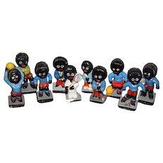 Vintage Doll Miniature Figurine Golliwog SET Robertson Sports Players