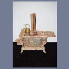 Old Cast Iron Miniature Doll Stove EVA Kenton Brand