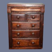Antique Doll Wood Miniature Chest Fashion Doll Size