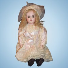 Antique French Bisque GORGEOUS Doll BeBe Emile Douillet of Jumeau Original Label on Body Closed Mouth