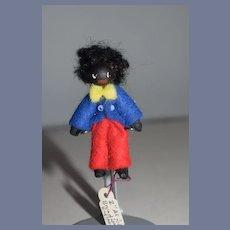 Vintage Miniature Artist Doll Golliwog Broadway England Dollhouse