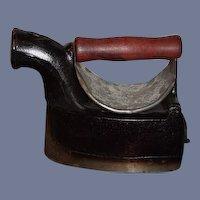 Antique Alfredo Villanova Cast Iron Charcoal Burning Sad Iron