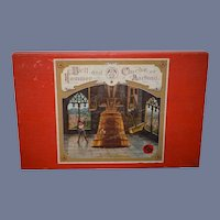 Old French Board Game Bell and Hammer Cloche et Marteau
