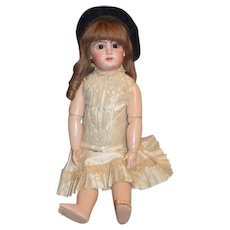"""Antique French Bisque Doll BeBe TeTe Jumeau 24"""" Gorgeous Closed Mouth"""