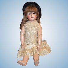 "Antique French Bisque Doll BeBe TeTe Jumeau 24"" Gorgeous Closed Mouth"
