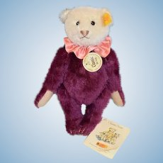 Vintage Steiff Teddy Bear Jointed Two Tone Classic W/ Tags and Button Tag Sweet