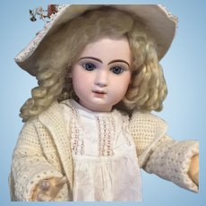 Antique French Bisque BeBe TeTe Jumeau 27 Tall Closed Mouth  Gorgeous