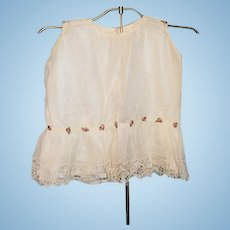 Wonderful Antique Child Or Doll Lace Top Beautiful
