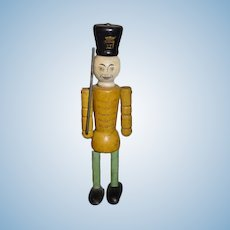 Old Wood Carved Soldier Jointed