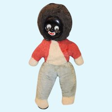 Old Doll Black Cloth Golliwog w/ Googly