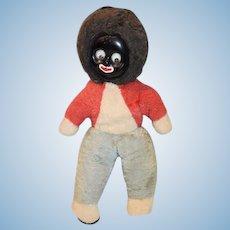 Old Doll Black Cloth Golliwog w/ Googly